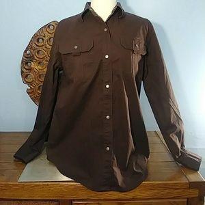 Lauren Ralph Lauren snap button down shirt